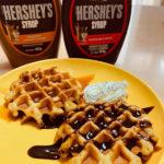 【お客様クッキングレポート】HERSHEY'Sチョコシロップでパパのお手製「チョコワッフル」完成!
